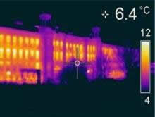 Thermal imaging of heat loss from a Victorian mill