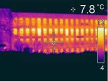 Thermal imaging of heat loss at a Victorian mill